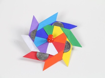 ???? RAINBOW SPINNER | Origami | DIY