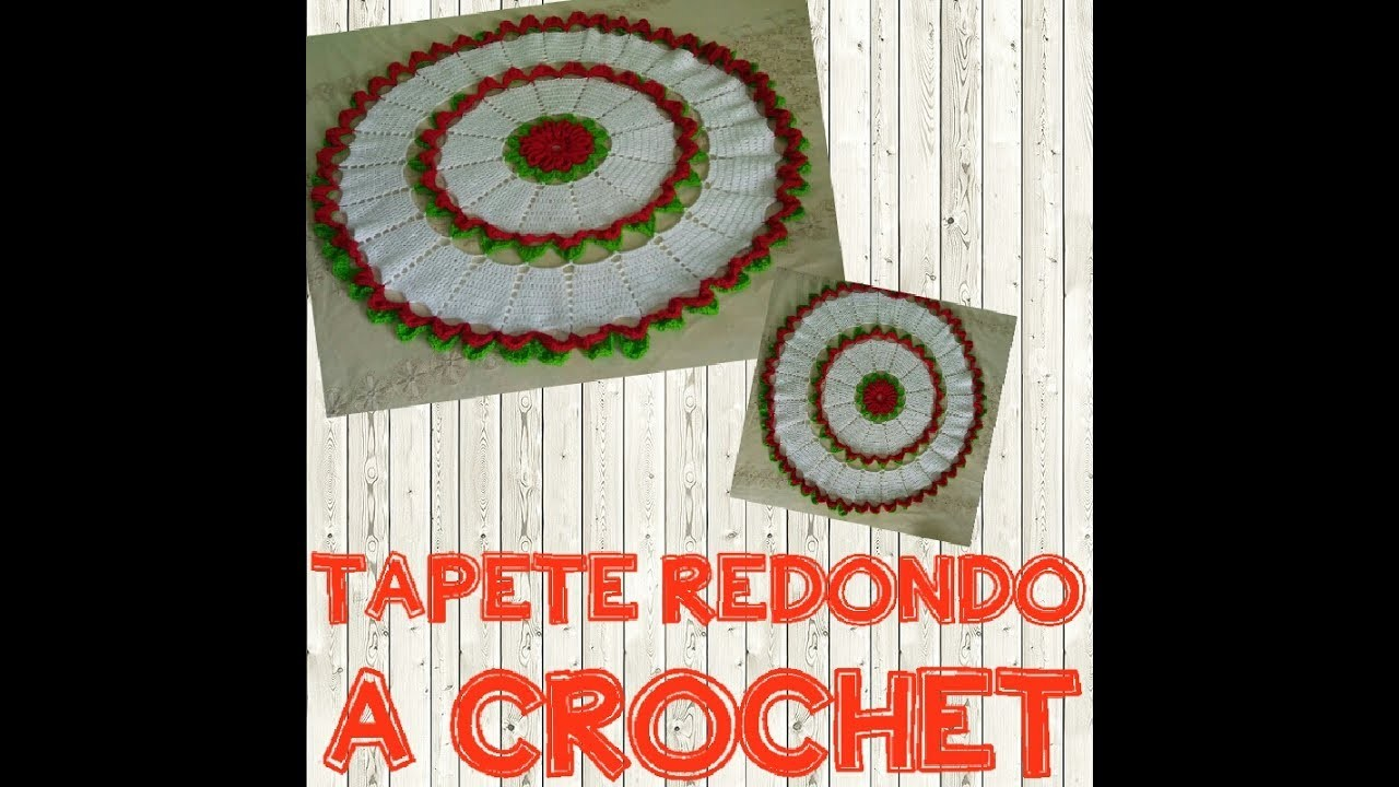 TAPETE REDONDO A CROCHET - Manualidades La Manita Feliz