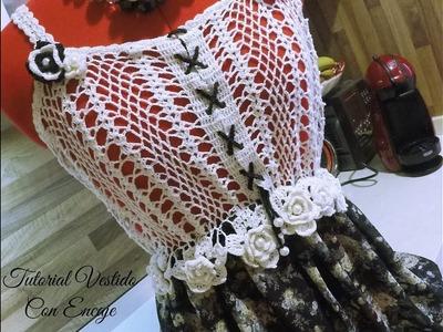 Tejiendo con Rosita   Vestido con encaje a crochet  