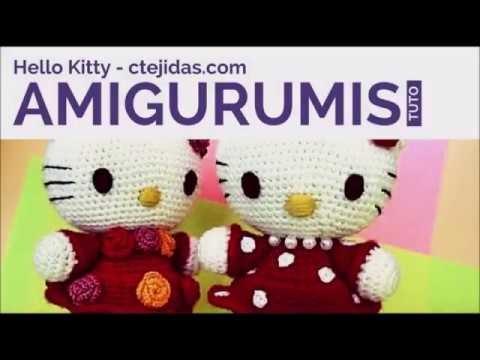 Hello Kitty tejida a crochet (amigurumi) Parte 6: flor de adorno | 360x480