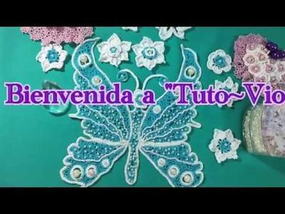 Tutorial Mariposa ???? Crochet con la red tunecina paso a paso