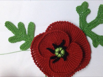 Video Nº20. Hojas de amapola a crochet irlandes. CROCHET IRLANDES