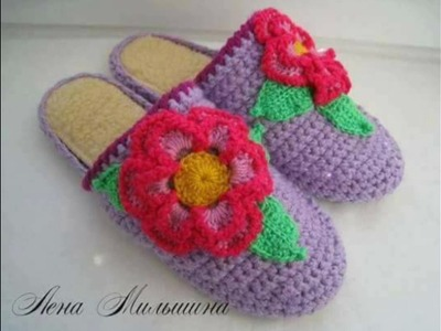 Zapatos adulto tejidos en crochet