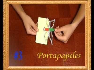 #276 Portapapeles de mariposa manualidades para niños faciles de hacer en casa