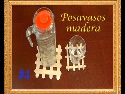 #278 Posavasos de madera manualidades para niños faciles de hacer en casa