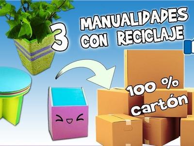 3 Ideas con cartón - Ecobrisa