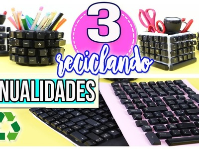 3 Manualidades con teclados de pc.  Manualidades con Mariel Picazo