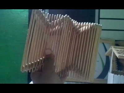 Artesanato de palito de picole