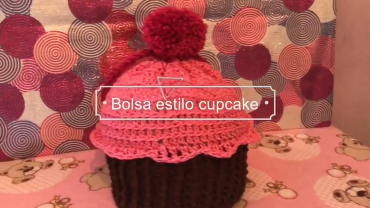 Bolsa tejida a ganchillo en forma de cupcake facilita parte 2 de 2 •Nya Crochet
