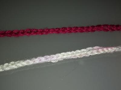 Cadeneta sencilla y cordón cuadrado, ganchillo, #52