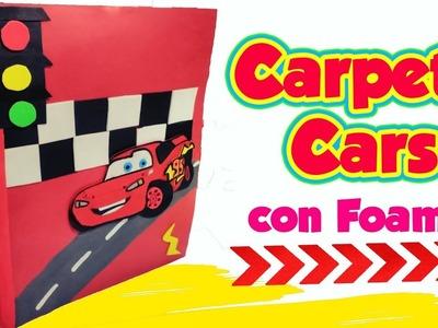 ⭐CARPETA ESCOLAR  RAYO McQUEEN CARS ????- DIY MANUALIDADES