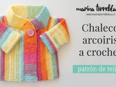 Chaleco arcoiris para bebe [patrón de tejido]