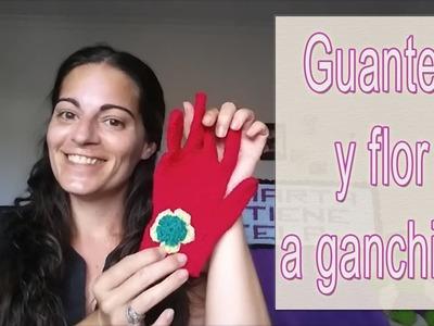 Cómo hacer guantes y flor a ganchillo