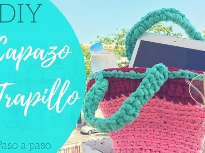 DIY Bolso de trapillo!. Capazo