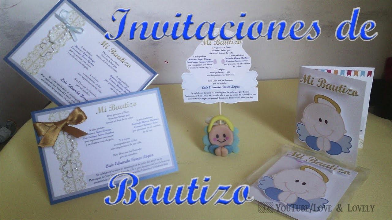 DIY| Invitaciones de bautizo | 3 Opciones | ???????? ????????