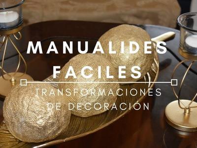MANUALIDADES FACILES PARA EL HOGAR | Transformaciónes de Decoración