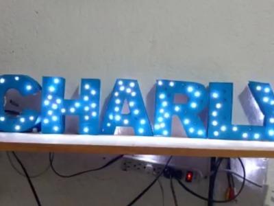 MANUALIDADES LETRAS 3D CON LUCES LED. TUTORIAL. #YoSoyCharly