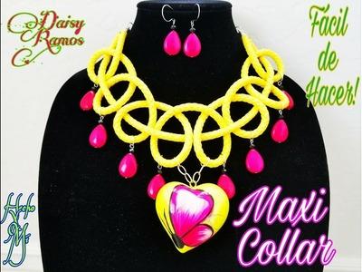 Maxi Collar, Curso de Alambrismo Básico Vídeo 7 DIY