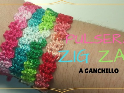 PULSERA ZIG ZAG A GANCHILLO