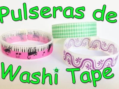 Pulseras de Washi Tape - Manualidades Para Todos