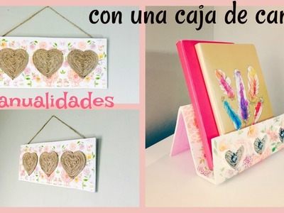 QUE MANUALIDADES HACER CON UNA CAJA DE CARTÓN! | CRAFTS YOU CAN MAKE OUT OF A CARDBOARD BOX