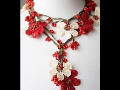 Top 10 crochet collares de flores tejidos a mano