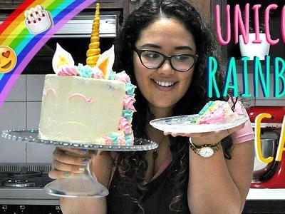 UNICORN RAINBOW CAKE | Andrea Cevallos