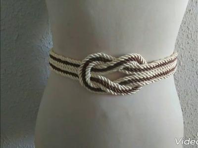 Cinturón cuerda de seda, tutorial muy facil, como hacerlo dye