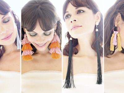 Cómo hacer pendientes de borla de pasarela (DIY tassel earrings): Ungaro, De La Renta, Desigual.