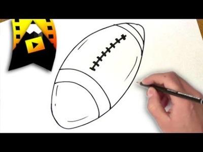 Como dibujar un balon de rugby | como dibujar un balon de rugby paso a paso