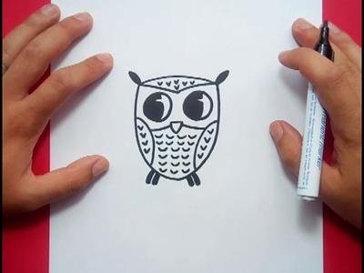 Como dibujar un buho paso a paso 4   How to draw a owl 4