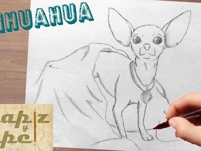 Como dibujar un chihuahua. how to draw chihuahua