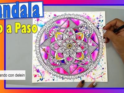 Como dibujar un mandla paso a paso Mandala #11