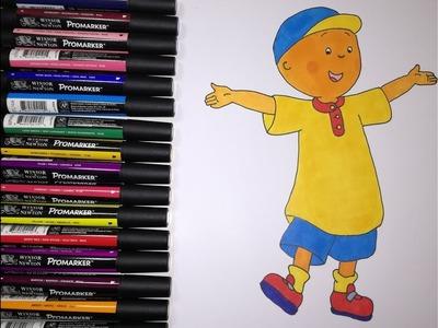 Cómo dibujar y colorear a caillou, Aprende a dibujar y colorear, Dibujos para niños