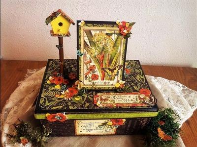 Cómo reciclar y decorar una caja - TUTORIAL PASO A PASO - Graphic 45 - Altered Box
