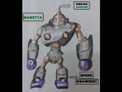Dibujando a: Magetta. Dragon Ball Super. DIBUJOS FÁCILES.