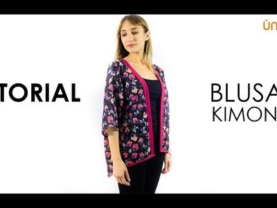 DIY Costura patrón  Blusa kimono