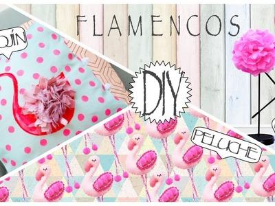 DIY- FLAMINGO | FLAMENCO ♥ DECORA TU CUARTO. ROOM DECOR (Cojín, Peluche y Centro de mesa)