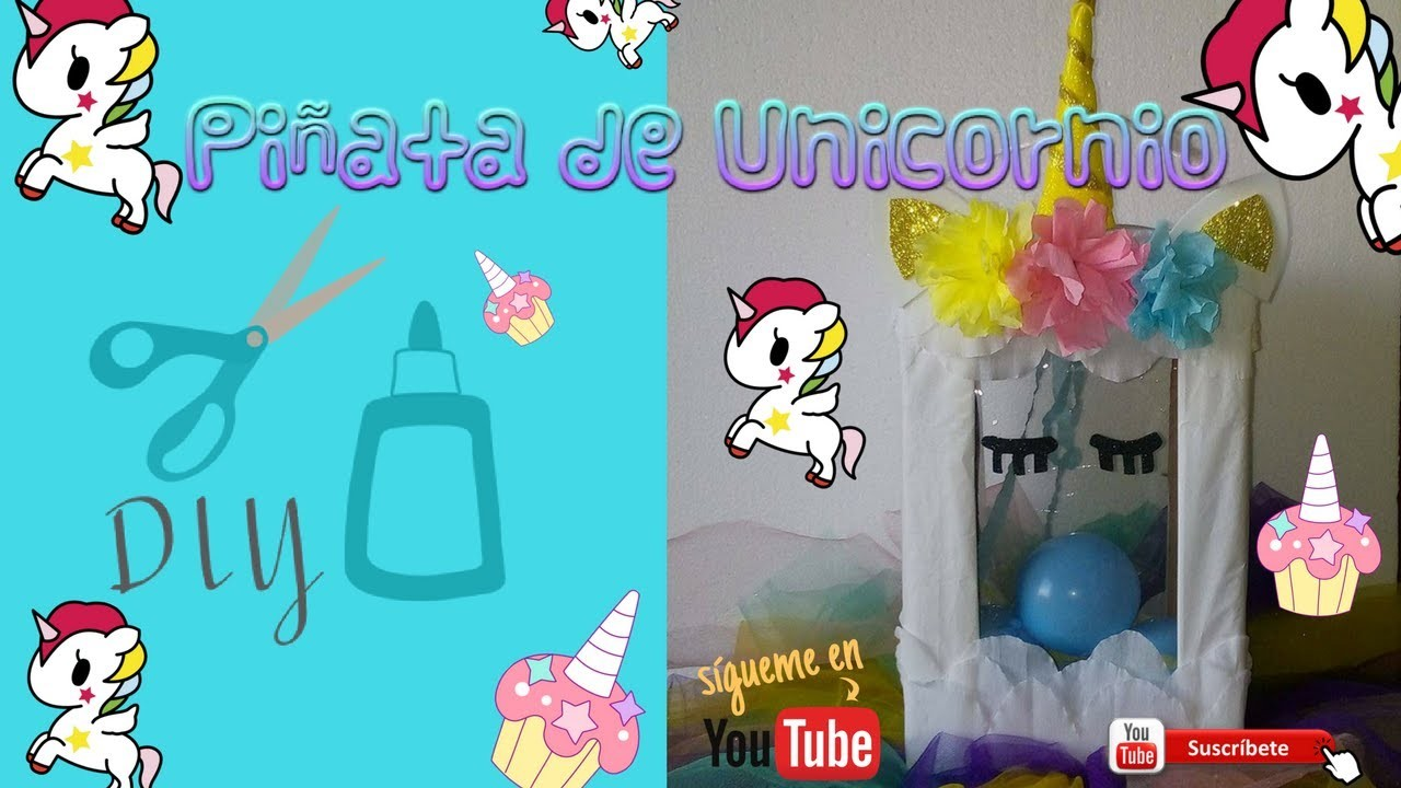 DIY Piñata de Unicornio sorpresa ❤