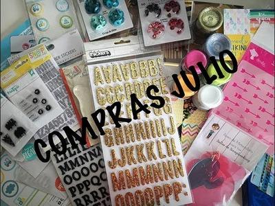 Haul scrapbooking: compras Julio 17