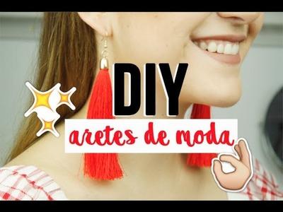 ¡CÓMO HACER ARETES DE BORLA! (DIY Tassel Earrings)  | Ana Molina
