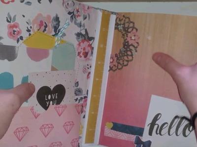 INSPIRACIÓN: álbum con la colección shine y libreta para maestra. Scrapbooking.