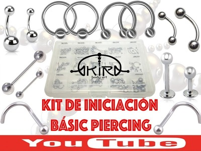 KIT de iniciación BÁSICO PIERCING Video Tutorial Tattoo de Akira Body Art