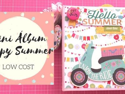 Mini Álbum Happy Summer | Low Cost | Scrapbooking