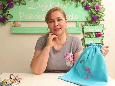 Mochila o tula superfácil de hacer *DIY paso a paso *.cloth bag.backpack easy to make