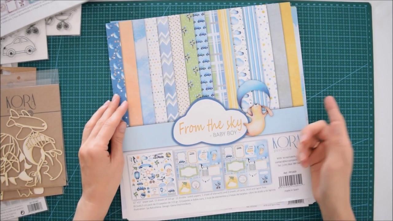 Novedades! Colección de bebé nño y niña: papeles de scrapbooking+pegatinas+sellos+chipboard