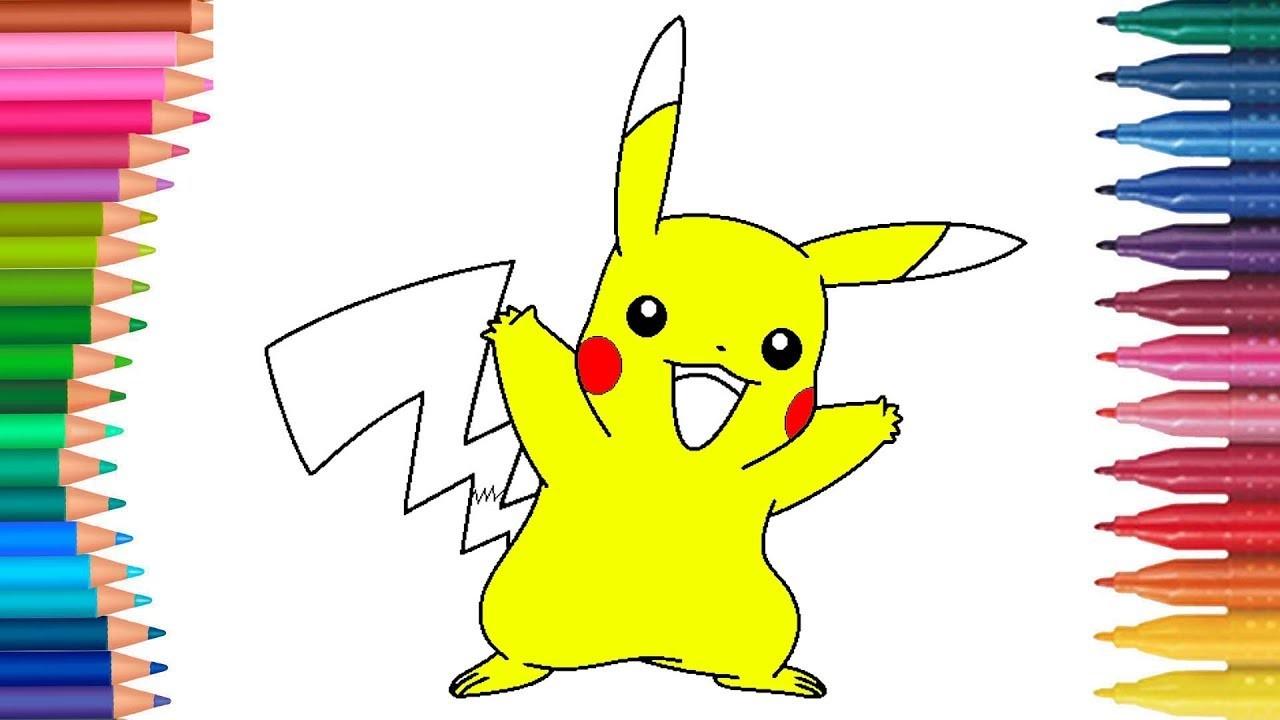 Pikachu De Pokemon Juego De Pintar Paso A Paso Manos
