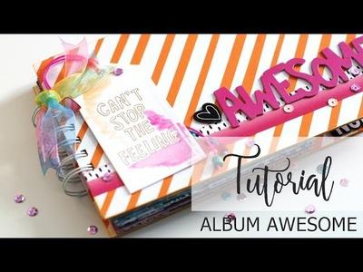 Tutorial Album de verano Awesome - colaboración Kimidori
