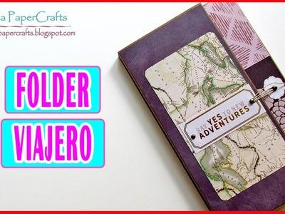 Tutorial Carpeta PORTA DOCUMENTOS | FOLDER de Viaje | Scrapbooking Luisa PaperCrafts