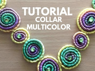 TUTORIAL DIY COLLAR ESPIRAL LOW COST